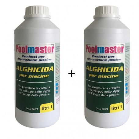 Poolmaster Alghicida per Piscine Doppia Funzione 2 Flaconi da Litri 1