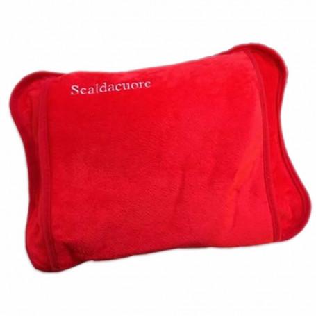 Scaldacuore Elettrico Riscaldante Colore Rosso Portatile