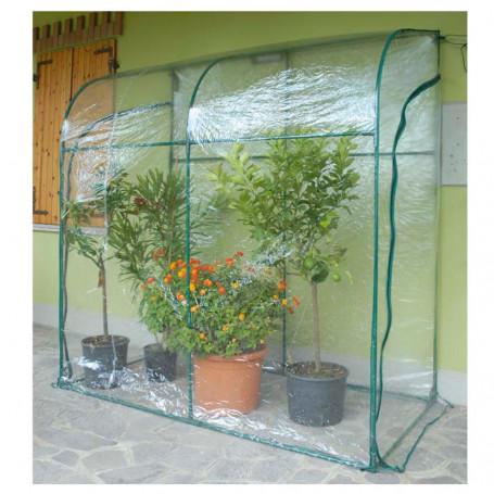 Serra a Parete da Giardino cm 200x100xh215 con 1 Telo Aggiuntivo di Ricambio