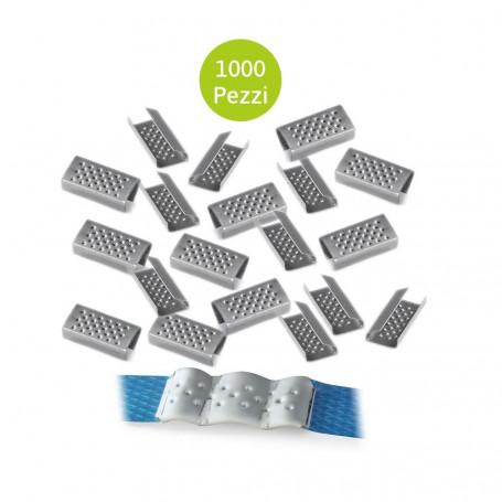 Sigilli Semi Aperti 1000 Pezzi Per Reggia Polipropilene Larghezza mm 12
