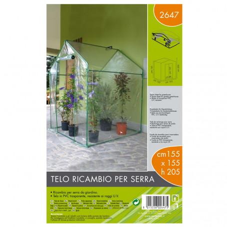Verdemax Telo di Ricambio per Serra Dimensioni 155 x 155 x h 205 cm