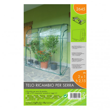 Verdemax Telo di Ricambio per Serra Dimensioni 200 x 100 x h 215 cm