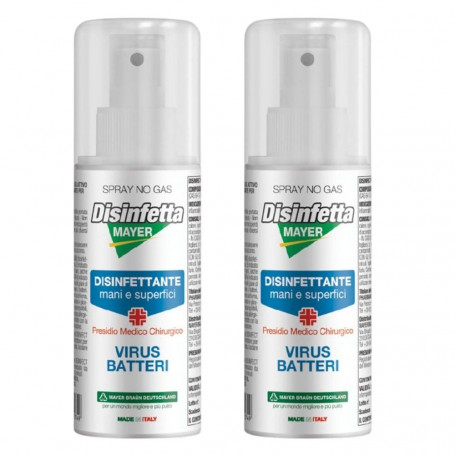 Sanymayer Igienizzante Per Mani  Virucida Battericida 2 Flaconi Spray ml 100
