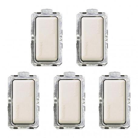 Deviatore Unipolare Bticino 1P 16A Serie Magic In Confezione Da 5 Deviatori