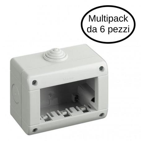 Custodia Idrobox IP40 3 Posti Bticino Serie Magic Matix In Confezione Da 6 Custodie