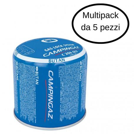 Campingaz Cartuccia Gas Butano C206 GLS Da 190 Gr Multipack da 5 Pezzi