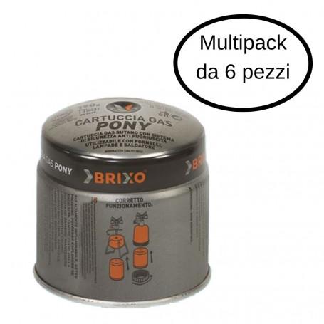 Brixo Cartuccia Gas Butano Da 190 Grammi Multipack 6 pezzi