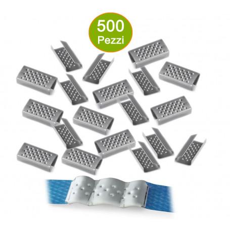Sigilli Semi Aperti 500 Pezzi Per Reggia Polipropilene Larghezza mm 12