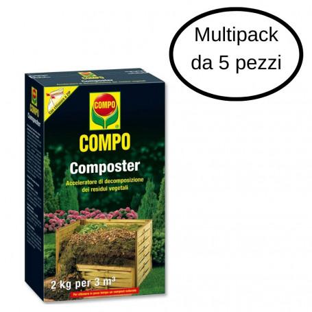 Compo Composter Compostaggio Acceleratore Di Decomposizione Multipack 5 pezzi Da 2 Kg Ciascuno