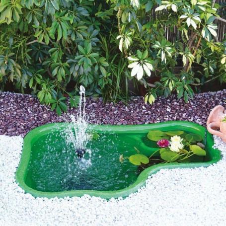 Laghetto da Giardino Ledro Termoformato Verde Litri 150 Dimensioni 120x80x42