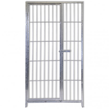 Cancello con Porta in Acciaio Zincatura a Caldo per Recinzioni Giardino & Orto 100 Cm x Altezza 180 Cm