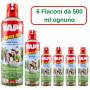 Vape Open Air Spray Anti Zanzare 6 Flaconi da ml 500