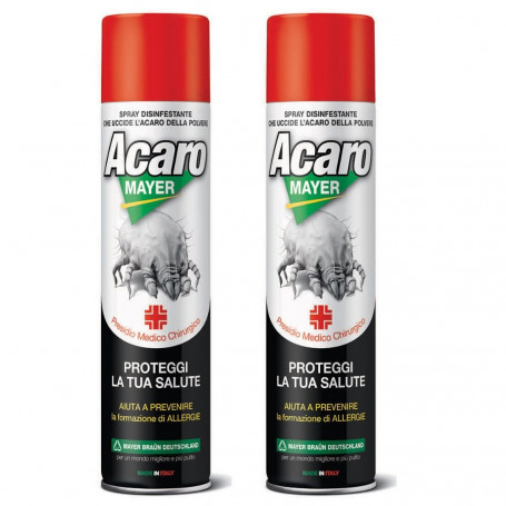 Acaromayer Insetticida Acaricida Spray 2 Flanconi da 400 ml