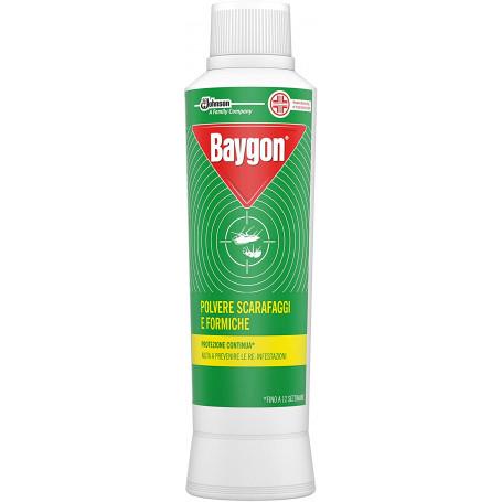 Baygon Insetticida in Polvere Scarafaggi e Formiche Flacone 250 grammi
