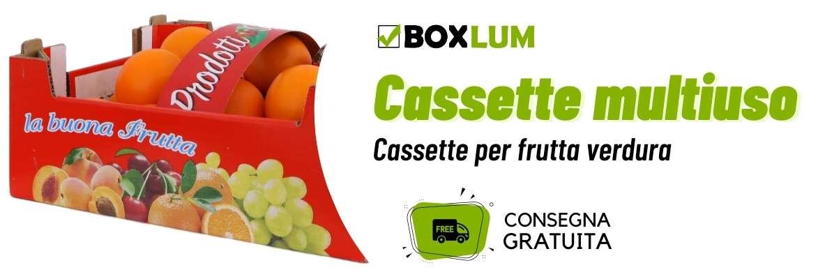 Cassette in cartone per agrumi e frutta fresca